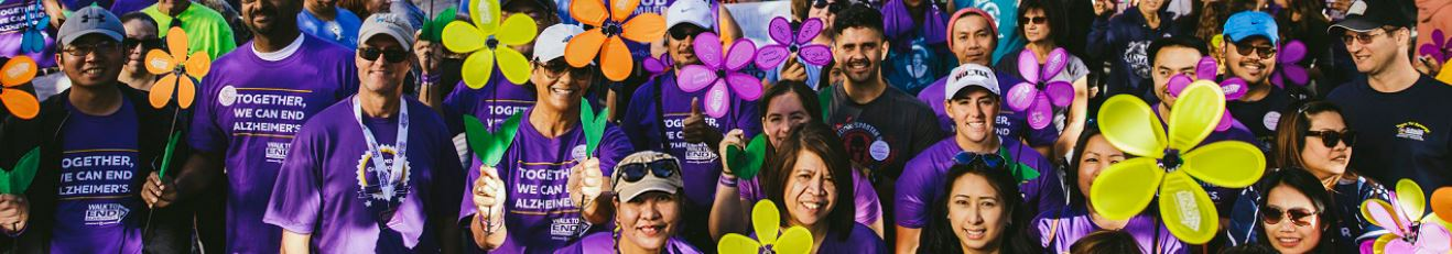 Image: People walking to end Alzheimer's